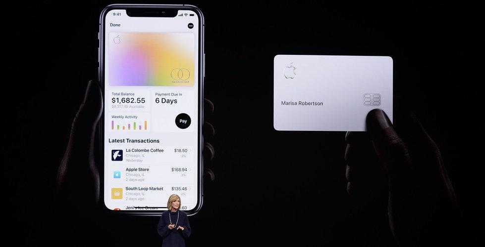 Apple bekräftar att kreditkortet Apple Card lanseras i augusti
