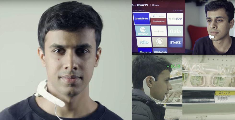"""Breakit - Han styr tv:n med tanken – nytt headset """"hör"""" orden i din hjärna"""