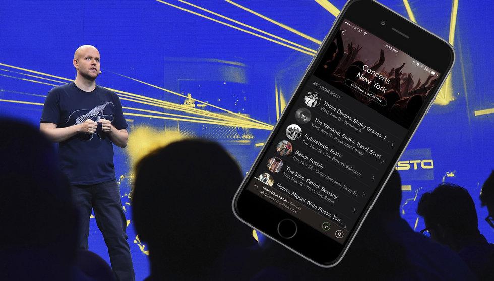 Därför börjar Spotify nu tipsa dig om dina favoritkonserter