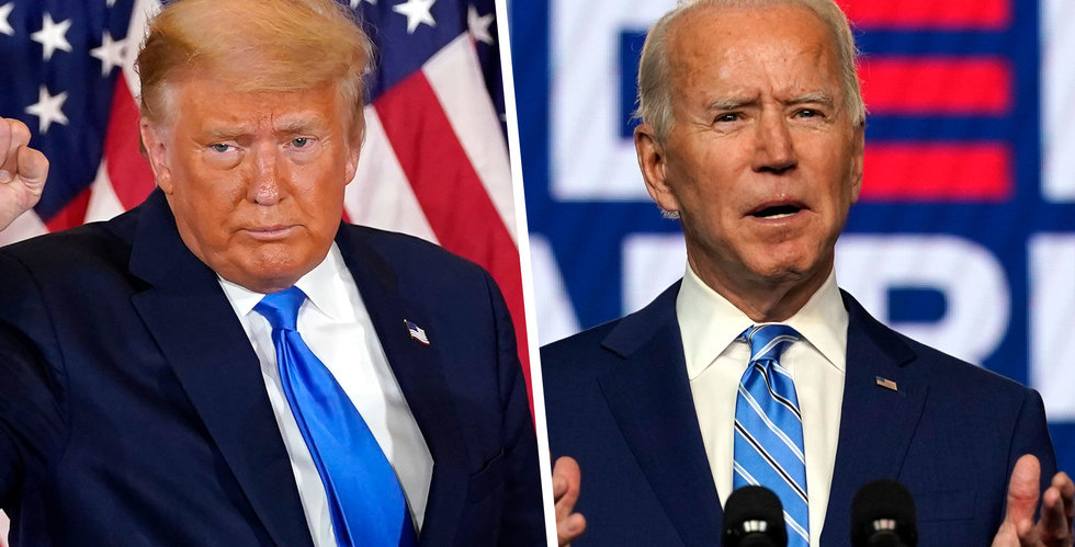 Biden nära seger – men Trump ger inte upp