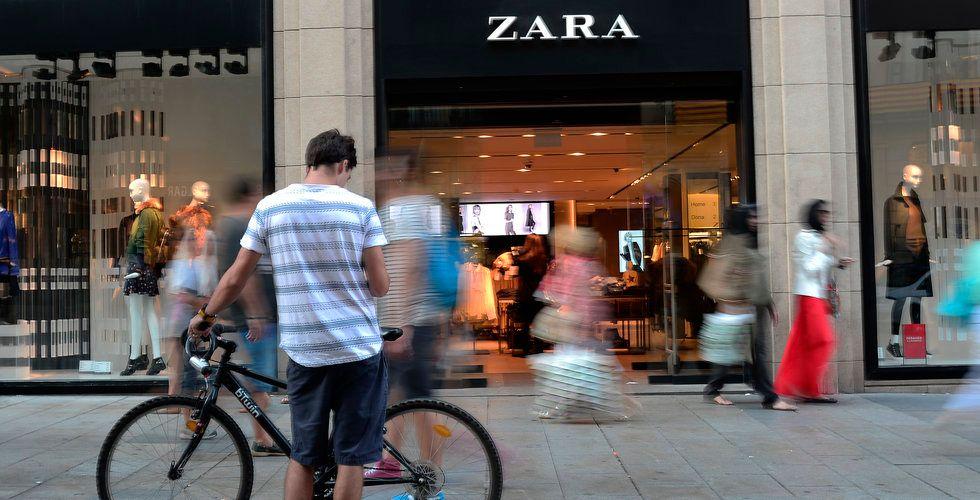 Breakit - Klädkedjan Zara satsar på e-handel i fysisk butik