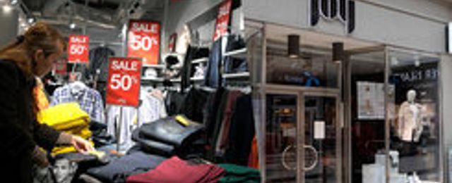 Stort ras för svensk modehandel – e-handeln kompenserar inte