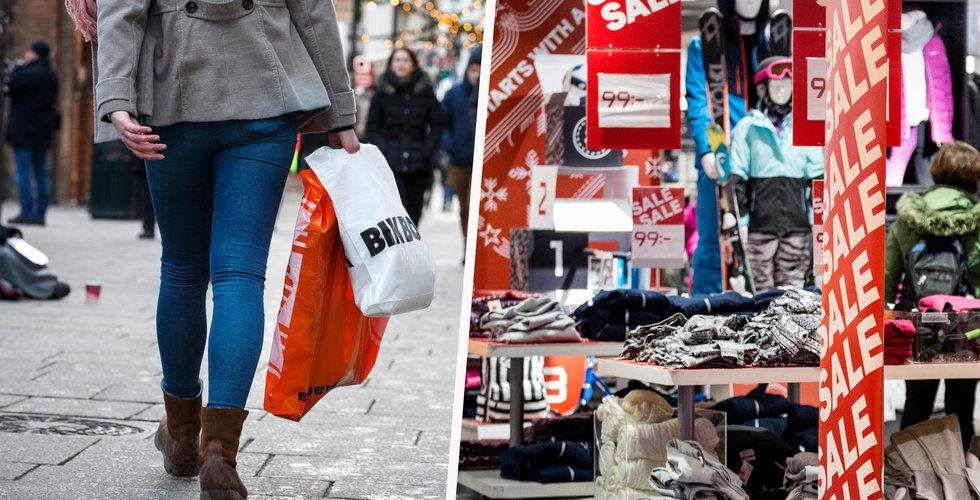 Tungt för butikerna innan jul – och ännu värre i mellandagarna