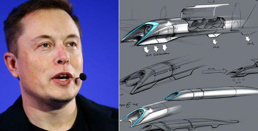 Hyperloop tar in 650 miljoner kronor till sitt framtidens supertåg