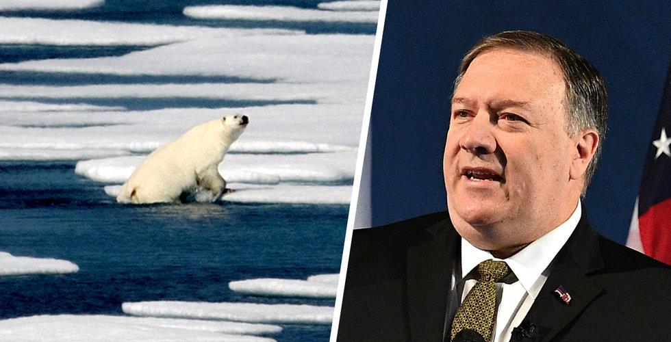 """Arktis smälter – men USA:s utrikesminister ser möjligheter: """"Finns olja att hämta"""""""
