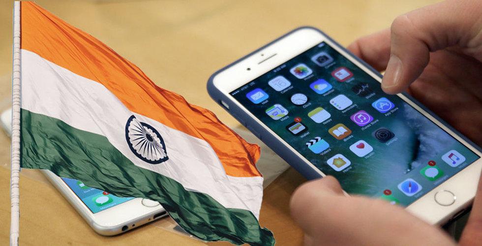 Antalet användare av smartphones i Indien förväntas dubblas på fem år