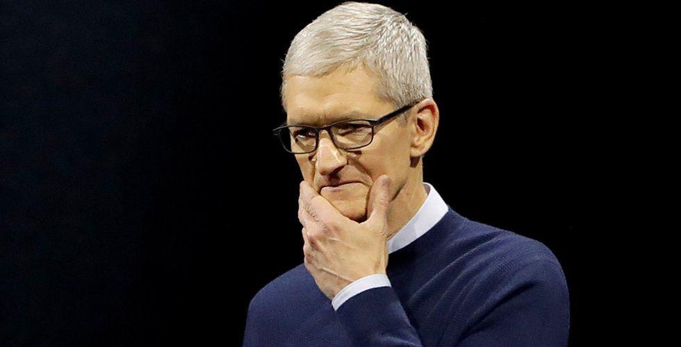 Antalet köprekommendationer på Apple i minoritet