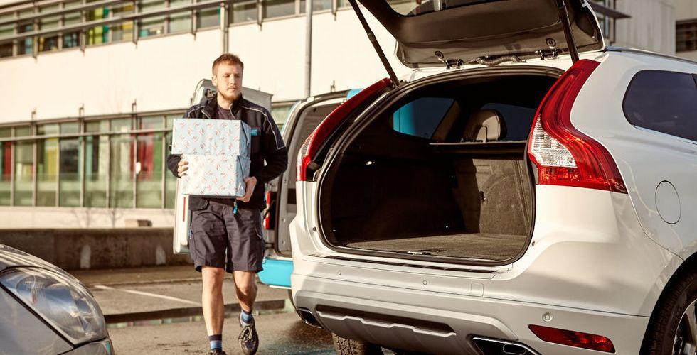 Volvo och e-handlare lanserar tjänst som gör bilen till brevlåda