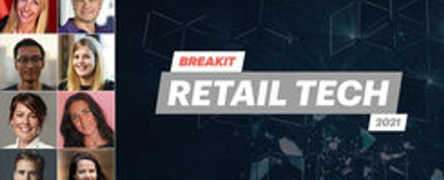 Talarna på Breakit Retail tech 2021: Anna Winde, Daniel Mühlbach, Tom Xiong, Anna Nordlander, Jessica Mattsson, Tekla Acs, August Bard Bringéus och Aurore Belfrage