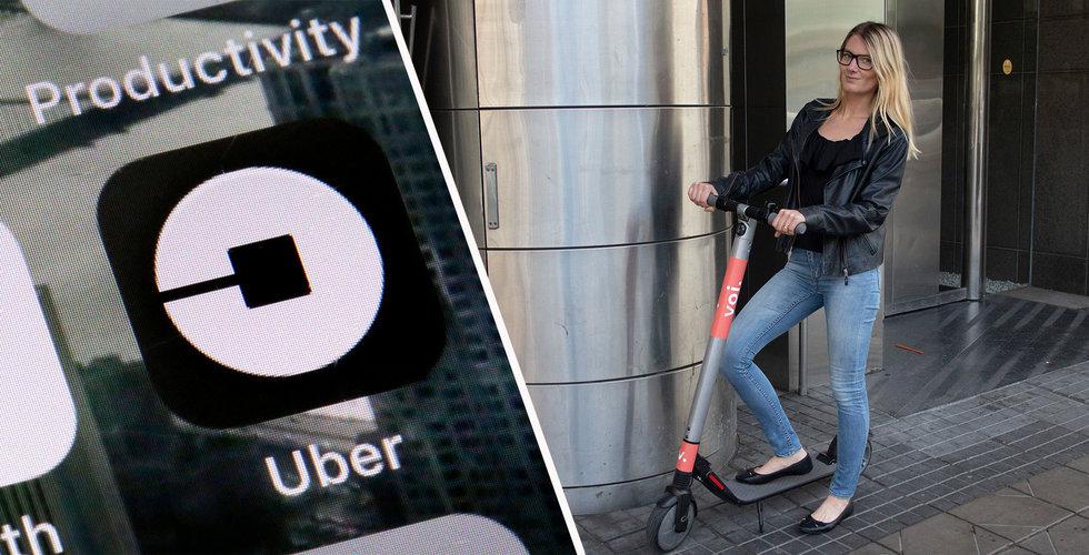 Uber öppnar upp för svenska elscooter-tjänsten Voi