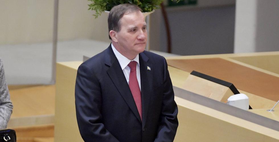 Stefan Löfven ny statsminister – släpptes fram i riksdagen i dag