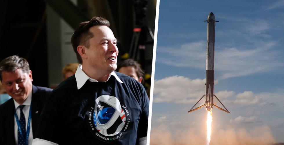 SpaceX reser 850 miljoner dollar i ny finansieringsrunda, värt 74 miljarder dollar