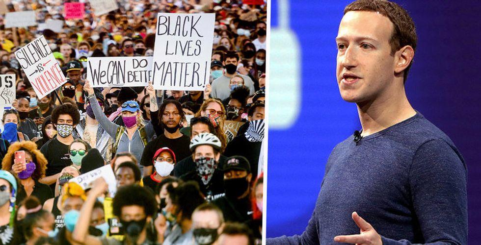 Stort uppror på Facebook – Zuckerberg uppmanas agera mot Trump