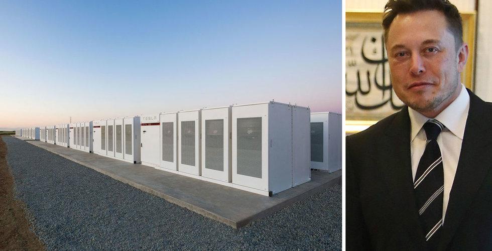 Elon Musk slog vad på Twitter – nu har Tesla byggt världens största batteri