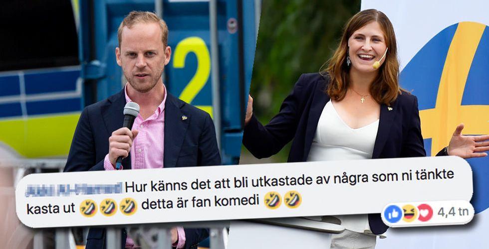 Alternativ för Sverige drog på sig offerkoftan – nu skrattar hela internet