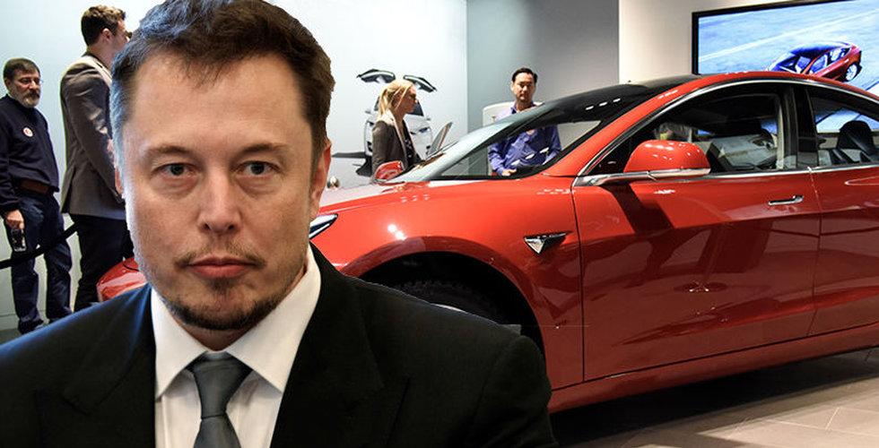 Tesla stänger ner butiker – vill sänka priset på Model 3