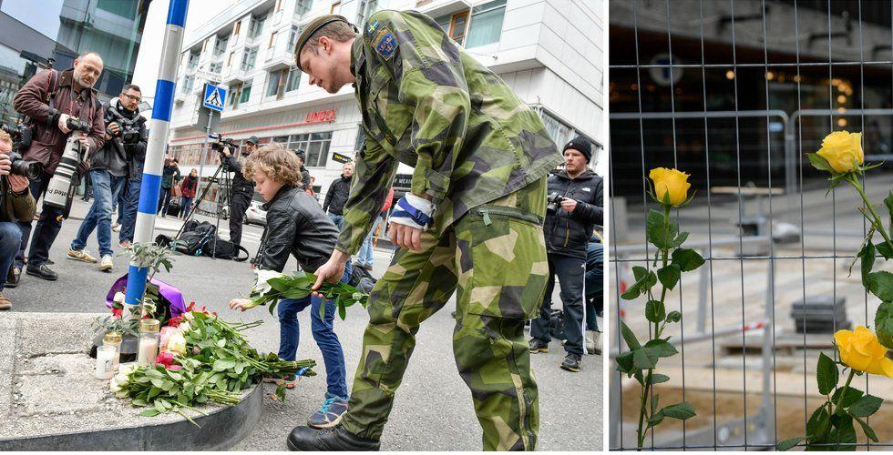 Så hedrar Sverige offren efter fredagens lastbilsattack