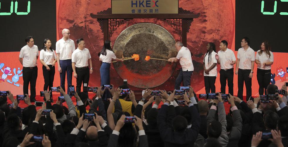 Lyckad börsnotering för Alibaba i Hongkong – aktien steg kraftigt