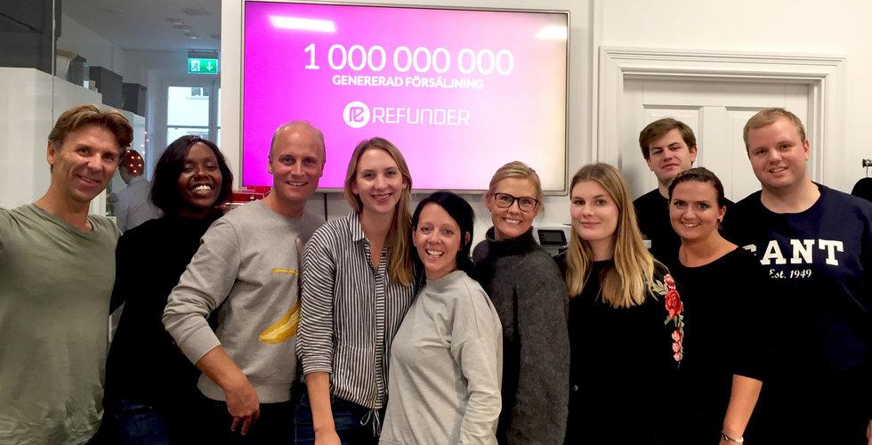 Milstolpe för Refunder – har raggat 1 miljard i försäljning åt e-handlare
