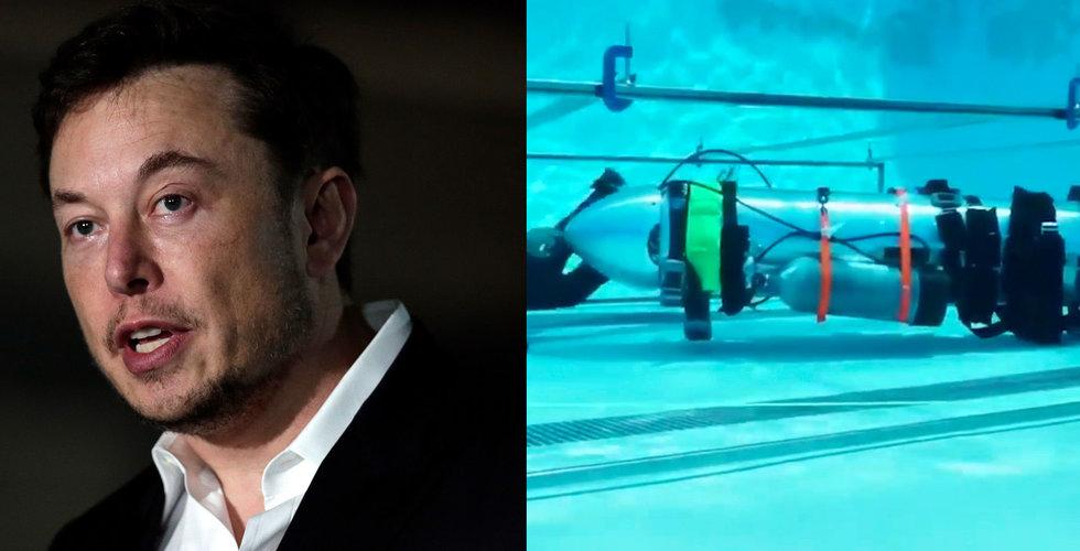 Breakit - Elon Musk tog sin ubåt till Thailand – passade inte för räddningsarbetet