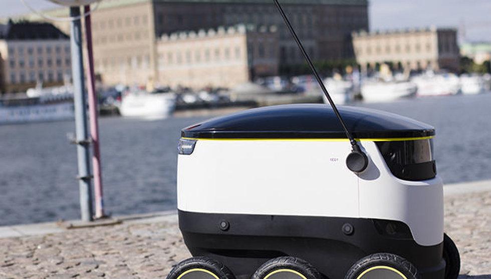 Breakit - Se Skype-grundarens budrobot rulla på Stockholms gator