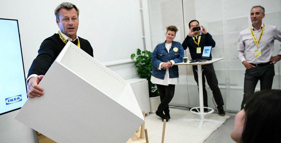 Ikea-chefen möblerar om – släpper ny online-prognos
