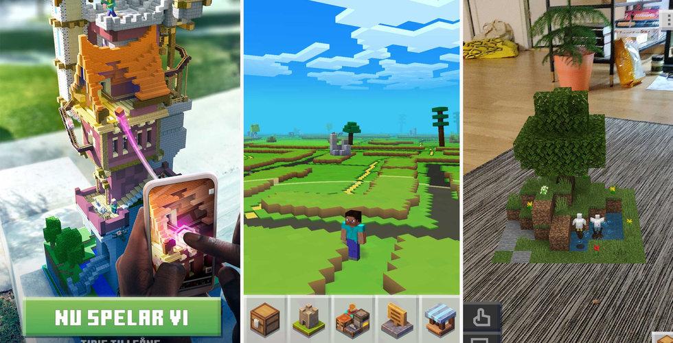 Minecraft Earth har kommit till Sverige