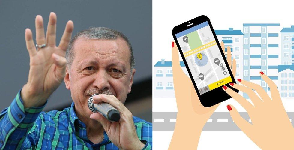 Breakit - Erdogan uppger att Uber inte får vara kvar i Turkiet